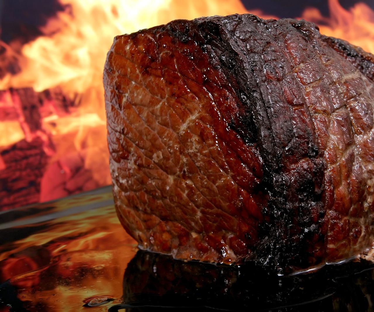 בשר לאחר צלייה
