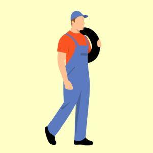 טכנאי מחזיק גלגל